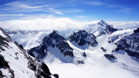 scenery of Valley Titlis snow mountains Engelberg Switzerland