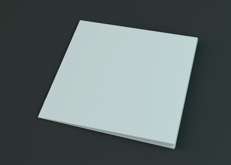 Photo for Blank brochure, magazine, booklet mockup isolated on dark background. 3D rendering - Royalty Free Image