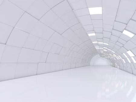 Photo pour Abstract modern architecture background, empty open space interior. 3D rendering - image libre de droit