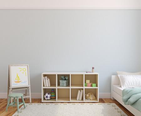 Photo pour Playroom interior. 3d render. - image libre de droit
