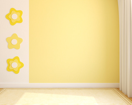 Photo for Interior. Empty nursery. 3d render. - Royalty Free Image