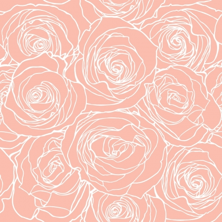 Elegance Seamless pattern with flowers rose, vector floral illustration in vintage style