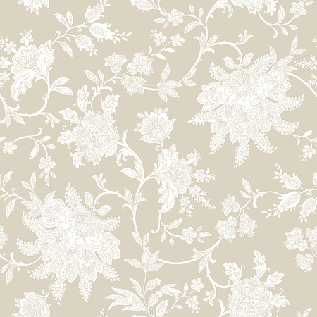 Elegance Seamless pattern with flowers roses, floral vector illustration in vintage style