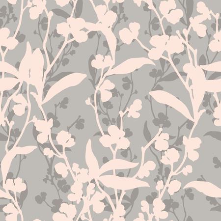 Ilustración de Floral seamless pattern. Flowers illustration - Imagen libre de derechos