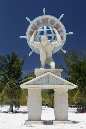 a statue in Cayo Blanco at Cuba