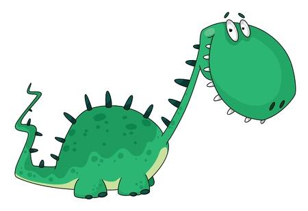illustration of a cartoon dino