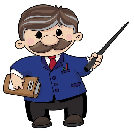 An illustration of a teacher