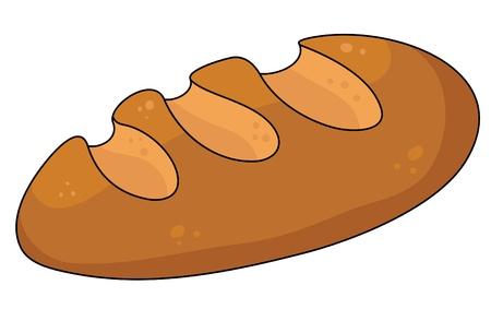 Illustration pour illustration of a yellow bread - image libre de droit