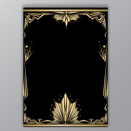 Illustration for gentle tender art deco a4 tamplate - Royalty Free Image