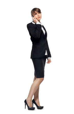 Photo for business woman isolated on white background - Royalty Free Image