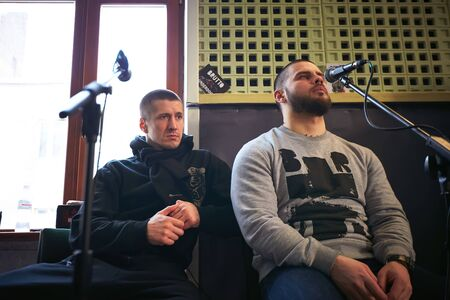 Music band Brutto performing in a recording studio