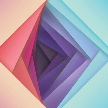 Illustration pour abstract papercut vector background, pink to violet color map, overlapping shapes in several bright gradient color combinations, Colorful material design style wallpaper, vector illustration - image libre de droit