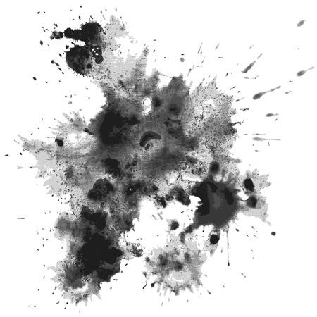 Ink blots. Eps10. Transparency used. RGB. Global color. Gradients free