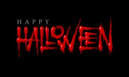 Illustration pour Halloween bloody lettering on a black background. Eps8. RGB. Global colors - image libre de droit