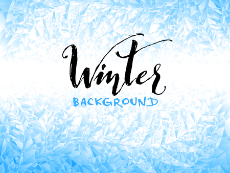 Ice winter background. Eps8. RGB Global colors