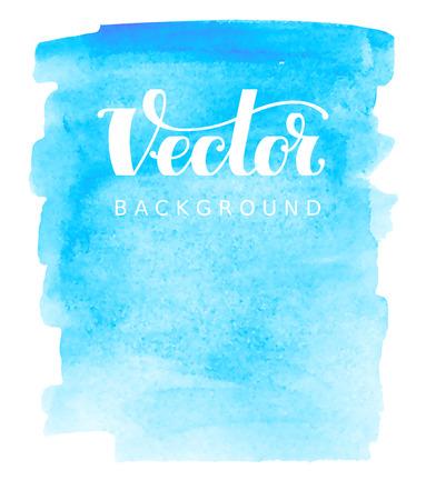 Illustration pour Abstract vector watercolor background. Blue spot on white. RGB. Eps8. Global colors - image libre de droit