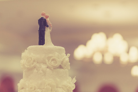 Foto de Top of Cake for wedding ceremony - Imagen libre de derechos