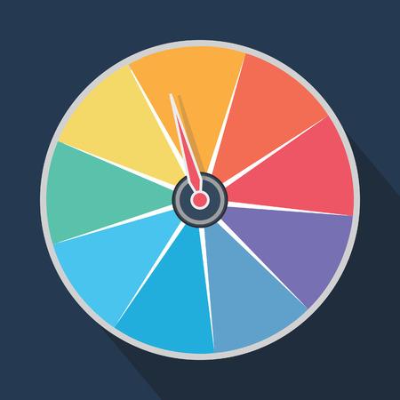 rainbow roulette wheel