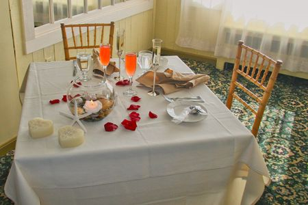 Sweetheart Table for Bride and Groom at Wedding