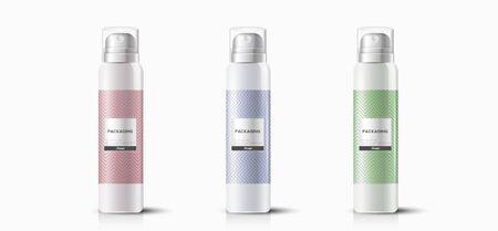Illustration pour Packaging template hair spray vector design illustration. - image libre de droit