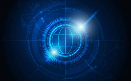 Illustration pour Abstract futuristic communication vector futuristic circuit board, Electronic motherboard. - image libre de droit