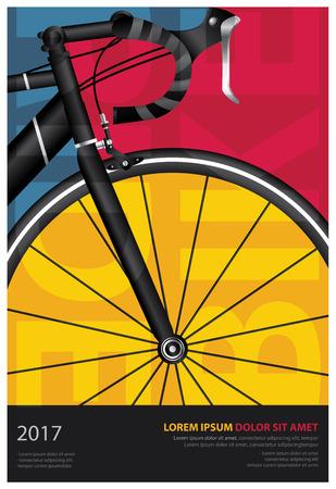 Ilustración de Cycling Poster Vector Illustration - Imagen libre de derechos