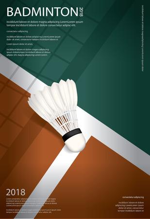 Illustration pour Badminton Championship Poster Vector illustration - image libre de droit