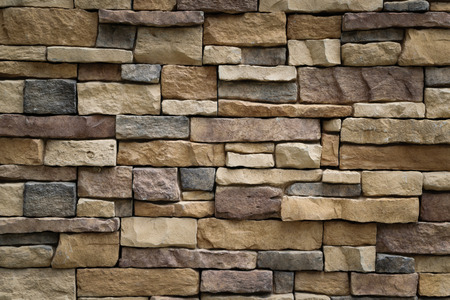 Photo for Stone wall texture background surface natural color - Royalty Free Image