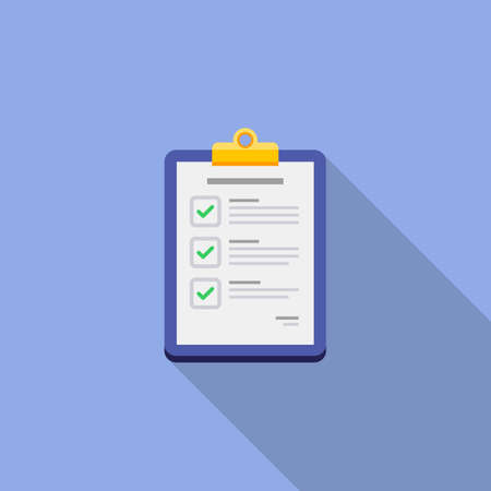 Illustration pour Checklist icon vector isolated. - image libre de droit