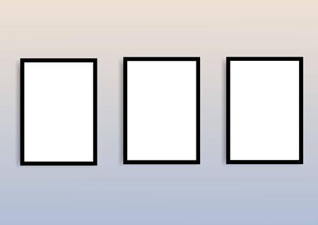 Illustration pour Blank frame mock up for for paintings or photographs - image libre de droit