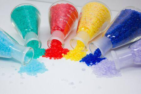 Photo pour Colorful Plastic PVC Compound for industrial Manufacturing. Background for artwork banner design - image libre de droit