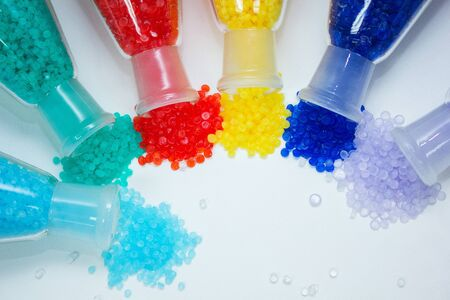 Colorful Plastic PVC Compound for industrial Manufacturing. Background for artwork banner design
