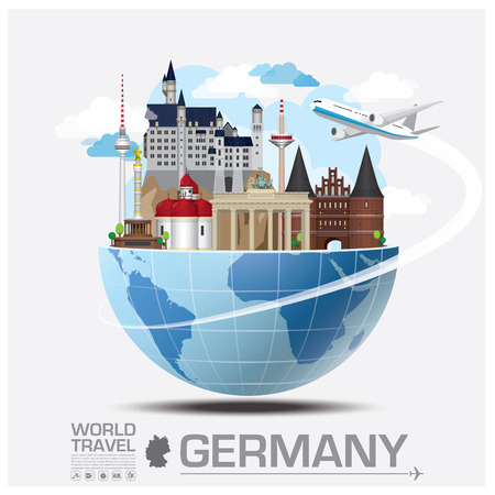 Germany Landmark Global Travel And Journey Infographic Vector Design Template