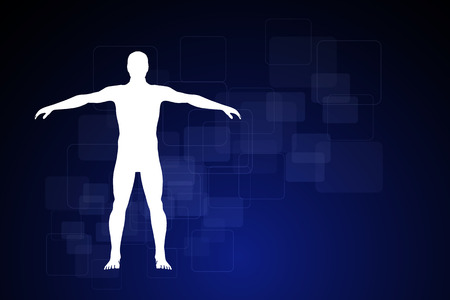 medicine infographics. Schematic description of the human body