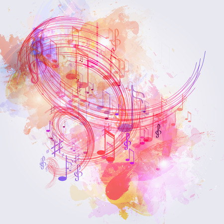 illustration abstract music background