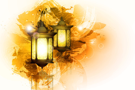Illustration pour Vector Illustration Ramadan Kareem Lantern. - image libre de droit