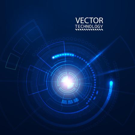 Illustration pour Bright background Concept technology. Vector - image libre de droit