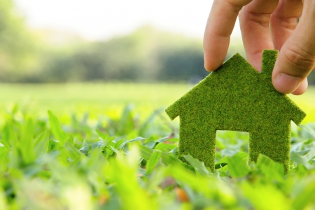 eco house icon conceptの写真素材