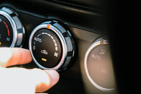 Photo pour Image of Car air conditioning - image libre de droit