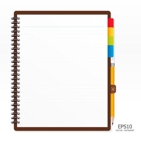 Illustration pour note paper with pencil - image libre de droit