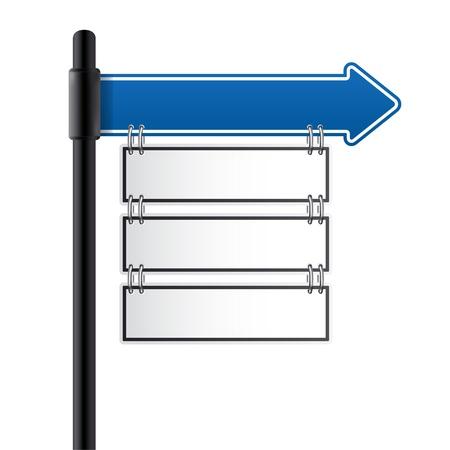 Illustration for  traffic sign blue color - Royalty Free Image