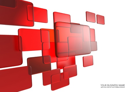 abstract touch screen interface Red glass background