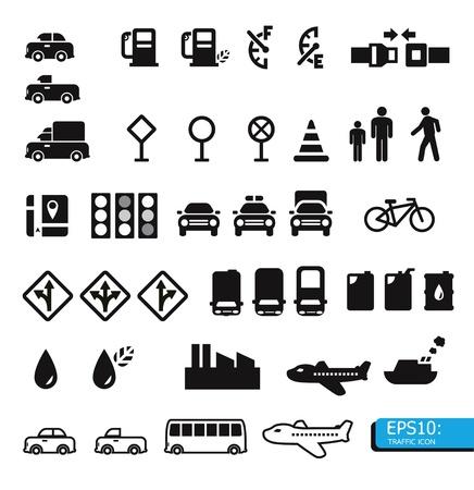 Illustration pour traffic icons - image libre de droit