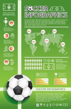 Ilustración de infographic soccer - Imagen libre de derechos