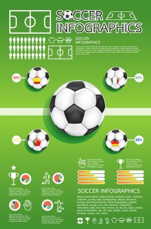 Ilustración de soccer info graphic  - Imagen libre de derechos
