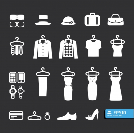 Ilustración de Elements of Clothing Store Icon vector - Imagen libre de derechos