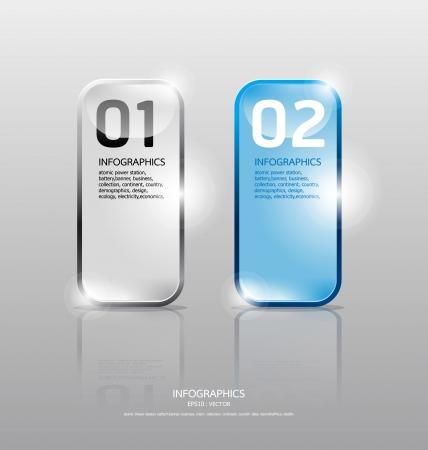 Glass framework set  Transparent glass plates  Vector illustration  Suitable for infographics  graphic design or web design