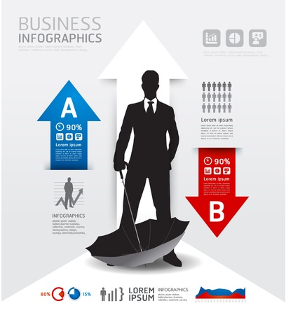 Infographics Business and financial  illustration. concept