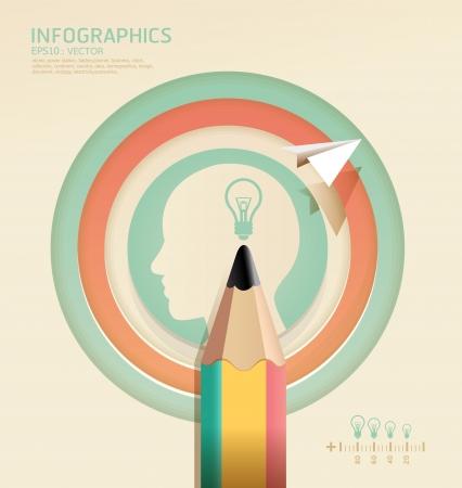 infographics Creative pencil Template concept  illustration