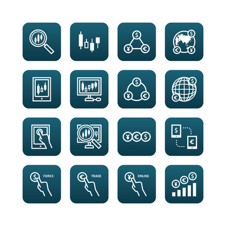 Forex Vector Flat Icons Set Of Business